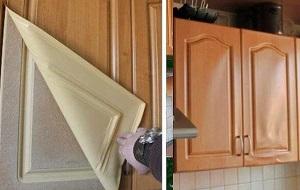 Ремонт фасадов кухонной мебели на дому в Москве