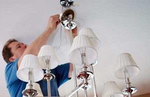 Замена люстры в Москве